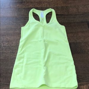 Size 10 Ivivva tank top. Neon yellow